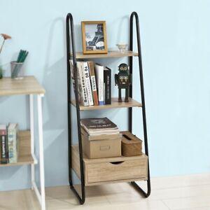 SoBuy®Estantería en Escalera,Librería Infantil,2 estantes y 1 cajón,FRG219-N,ES