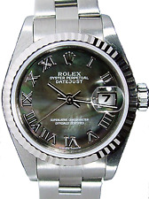 ROLEX - 18kt White Gold & Stainless DateJust MOP Roman Oyster 79174 - SANT BLANC