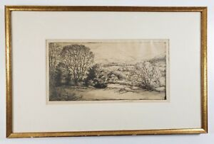 Antique Signed Etching J. Andre' Smith Mount Everett & Washington - Sharon Ct.