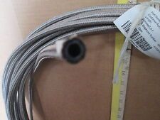 "3/16"" ID STAINLESS STEEL BRAIDED PTFE SMOOTH BORE HOSE Possibly Conductive?"