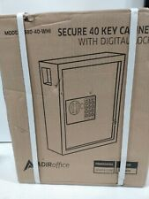 Adir Office 40 Keys Cabinet With Digital Key Lock Electronic Safe White