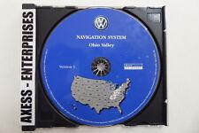 2004 2005 Volkswagen VW Touareg Navigation CD Ver ©2003 Map # 6 Ohio Valley U.S.