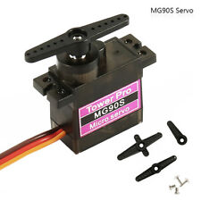 4x 9g MG90S Metal Gear Micro Servo High Speed for RC Helicopter Car Boat Racing