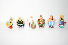 Asterix Obelix Getafix Panoramix Timandaha lot 6 Rare toy FIGURES UDERZO KINDER