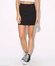 Denim Solid Regular Size Mini Skirts for Women