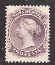 Sc# 9 - Nova Scotia - 1860 - 2c - Queen Victoria - MH F/VF - superfleas -