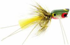 Fly Fishing Flies (Bass, Bream, Crappie, Trout) Micro Popper Frog (6 flies)