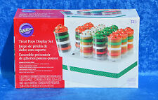 Wilton Christmas Treat Pops  & Display Set of 12 Push Pops Caps & Stand ~NEW~