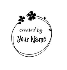 HANDLE MOUNTED PERSONALIZED CREATED  BY CUSTOM RUBBER STAMPS C25