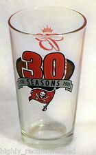 Tampa Bay Buccaneers 30 Seasons 1976-2005 'Budweiser Game Time' Collector Glass