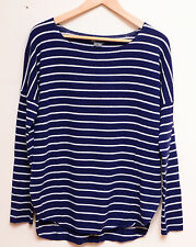 VM018 NWT VINCE STRIPES CASHMERE BLEND WOMEN SWEATER SIZE M in B/W $310