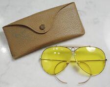 Vintage RAY-BAN B&L Kalichrome Shooter Sunglasses & Case. 1/10 12K GF. RARE!