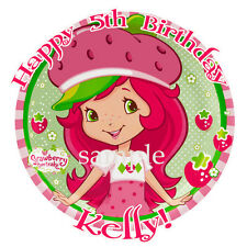 STRAWBERRY SHORTCAKE Round Edible ICING Image CAKE Topper Party Decoration