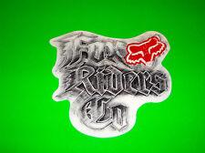 FOX  RACING MOTOCROSS ATV QUAD BMX SKATEBOARD WAKEBOARD DISCHORD STICKER DECAL