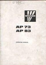 Welger Baler AP73 & AP83 Operators Manual