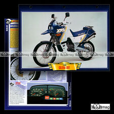 #094.07 Fiche Moto GILERA 125 XR1 1988-1990 Trail Bike Motorcycle Card