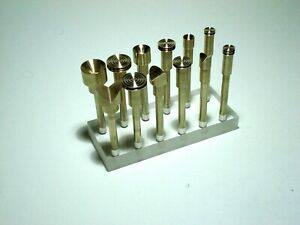 Lot 12 pcs 6mm Brass Dop Stick on Acrylic Base for Lapidary Faceting Machine