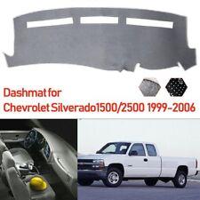 For Chevrolet Silverado 1500 2500 HD 1999-2006 Dashmat Dashboard Mat Noslip Gray