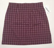 Women's Poly Rayon Spandex Plus size Plaid Skirts 16W upto 26W NWT