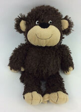 Carter's Monkey Furry Brown Baby Toy Soft Eyes Smile Plush Stuffed Animal 12""