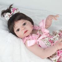 """22"""" Realistic Reborn Baby Dolls Full Body Vinyl Silicone Girl Doll Newborn Toy"""
