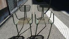 R. Malaval pour Bloc Metal chaises «Radar» Vintage industriel design chairs 1948