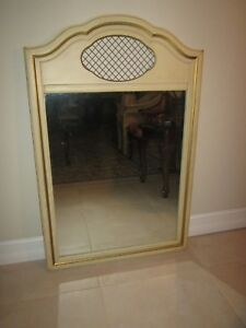 Vintage from     1940s  Bassett  Painted Wall Mirror  By  Lenoir Shipping extra