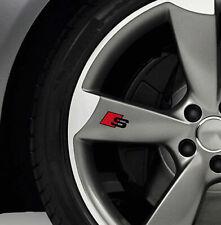 6 x Audi S-line Aufkleber für Räder A3 A4 A6 A7 A8 S4 RS TT Q5 Q7 Emblem Logo S