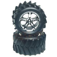 Traxxas SS Split Spoke Wheel Tires Chrome RC Cars Truck E-Maxx T-Maxx 3.3 #5173