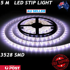 New Waterproof Flexible 12V Led Strip Lights 3528 SMD Cool White 300LEDs 5M Roll