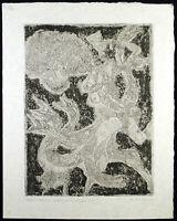 Grosse expressionistische Aquatinta Alfred FINSTERER (1908-1996 D), handsigniert