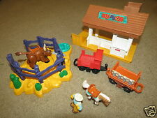 VG GeoTrax Rope N Ride bucking bronc / bull cowboy horse stable stagecoach wagon