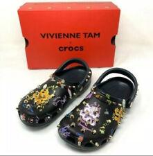NIB Women 8 -Vivienne Tam x Crocs Multicolor Studded Dragon Print Clogs  / 6Men