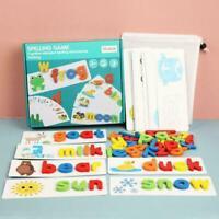 Cardboard English Spelling Alphabet Game Educational Education Early Toys R9R4