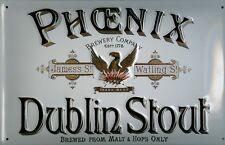 Phoenix Dublin Stout Pancarte En Tôle Signe En Métal 3D en relief Voûté