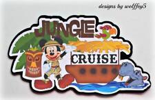 DISNEY JUNGLE CRUISE premade paper piecing scrapbook diecut piece 3D art WOLFFEY