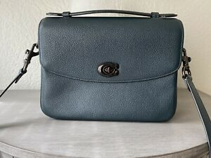 Coach Cassie Crossbody Bag Purse In Polished Pebbled Leather Pine Green
