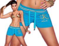 Koucla Shorts Hotpants Pantalon de Sport Jogging Fitness Court Strass Slip