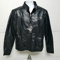 Emporio EGA Luxury Collection Italian Men's Black Faux Leather Jacket XL NWT