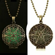 Hot gifts Glow in the Dark New Women Hollow Round Pendant Valentine Day Necklace