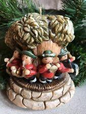 Vintage German Carved Candle Miller Kerzen Polka Band Musicians Tree