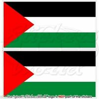 """PALESTINE Flag Palestinian State Vinyl Bumper, Decals Stickers 4,3"""" (110mm) x2"""