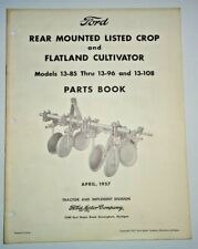 Ford Rear Mounted Listed Crop & Flatland Cultivator Parts Catalog Book Original!