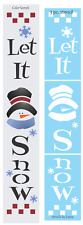 "Joanie Lg 3 pc 72"" Stencil Let Snow Flakes Frosty Snowman Winter Christmas Sign"