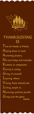 """""""Thanksgiving Is..."""" Thanksgiving Bible Bookmark Ribbons, pack of 10 (#6-947)"""