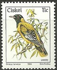 Ciskei - Freimarken: Vögel Schwarzkopfpirol postfrisch 1984 Mi. 56