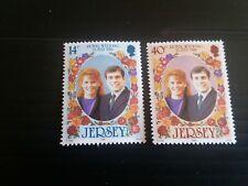 JERSEY 1986 SG 395-396 ROYAL WEDDING MNH
