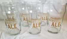 Set of 6 Budweiser American Ale Pub Style Beer Glasses 16 oz pint size