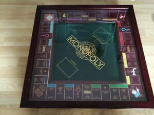 FRANKLIN MINT MONOPOLY DELUXE COLLECTORS EDITION 1991 XLNT GLASS LID COMPLETE