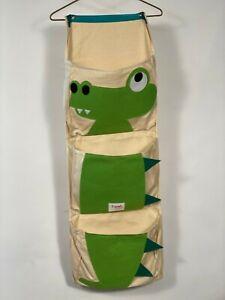 Kids Hanging Pouch/Folder Storage , Dinosaur Design 3 Sprout Brand
